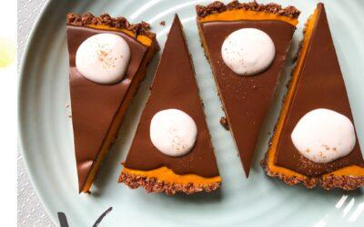 Tarta dyniowa z pomarańczą i czekoladą i  – wegańska, bezglutenowa