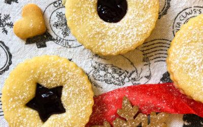Ciasteczka Linzer – kocie oczka