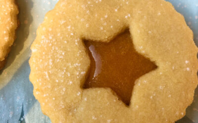 Migdałowe ciasteczka Linckie – kocie oczka – bez glutenu i bez jajek