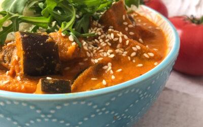 Curry z bakłażana – vege danie